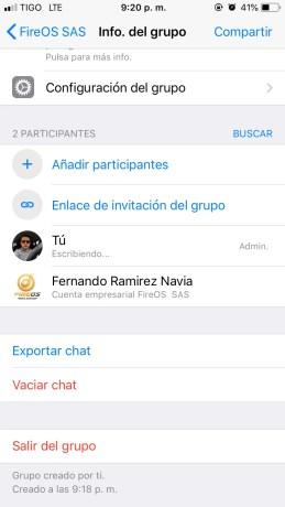 Invitación al grupo Whatsapp