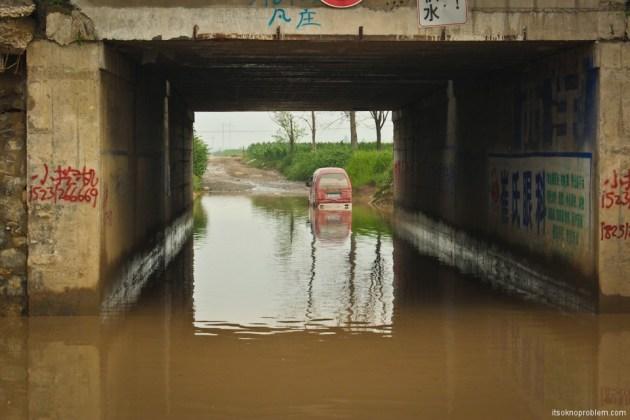 Guerrilla tunnels in the town Zhanchzhuan. Хорошо зачерпнул