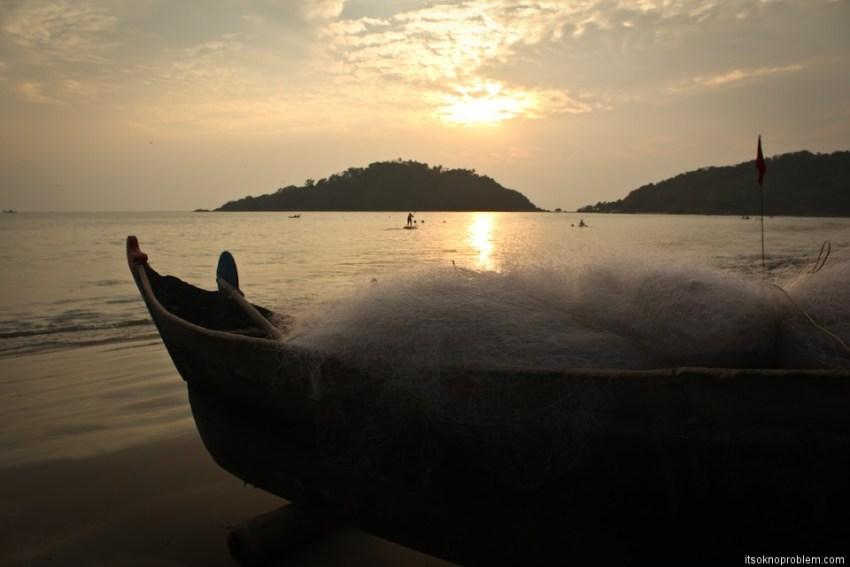 Sunset at Palolem. Goa