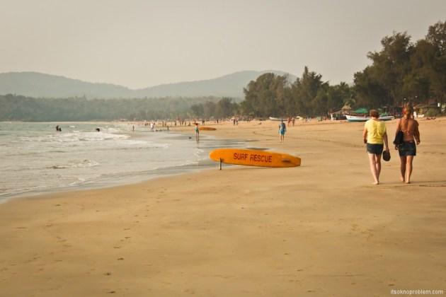 Южный Гоа. Пляж Агонда