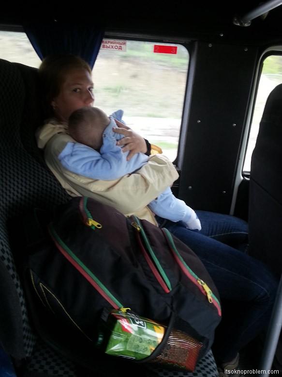 带宝宝第一次. 从雅尔塔到海边的路