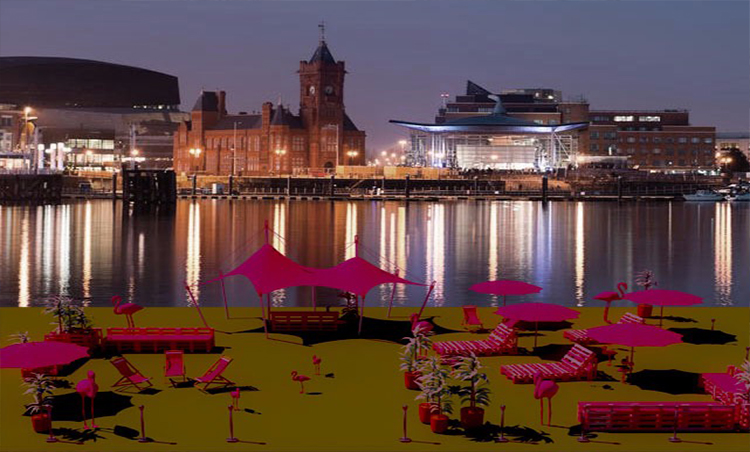 Introducing Cardiff's First Pink Beach Club