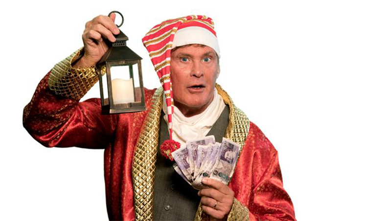 SCROOGE – The Funny Family Spectacular starring the Hoff is coming to Cardiff this Christmas