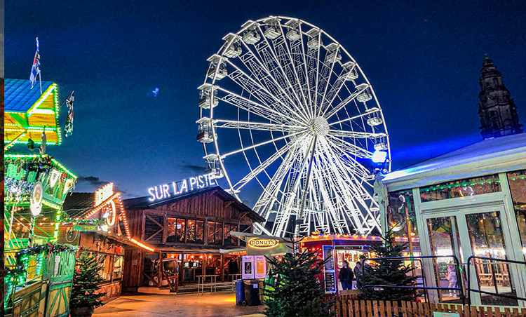 The UK's First Alpine ice trail opens at Cardiff's Winter Wonderland
