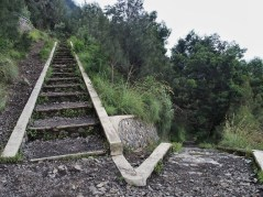 One of the many stairways