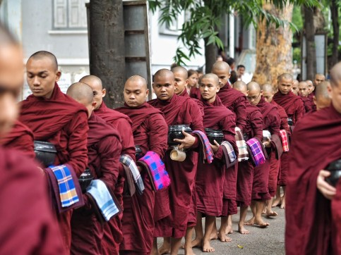 Personalized towels of Maha Gandayon Monastery