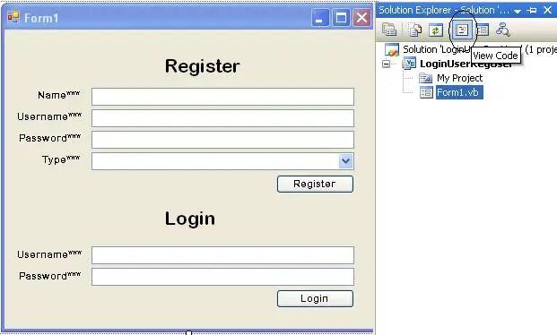 login form vb code Screenshot 1