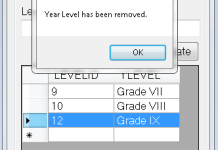 Removing Year Level