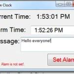 Simple alarm Clock using Visual Basic.Net