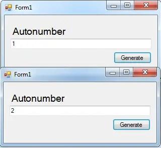 autonumberCSHARPoutput autonumber