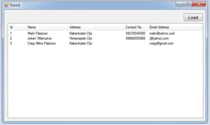 loadataListviewSQLFig.3