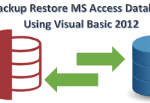 Backup Restore MS Access Database Using Visual Basic 2012