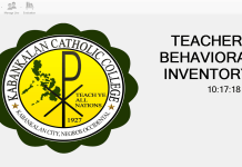 KCC Teachers Behavioral Inventory System Source Code Version 2