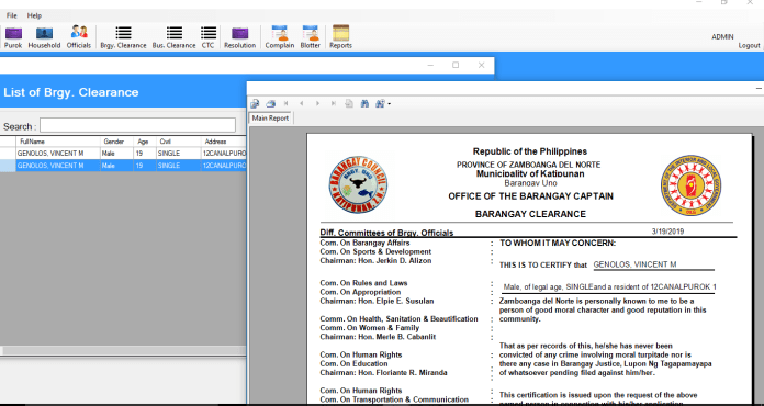 Barangay Information management System Source Code in VB.Net Projects with source code