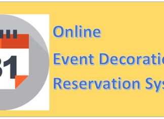 Online Event Decoration Reservation System php projects