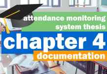 Attendance Monitoring System Thesis Documentation | Chapter 4