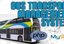 Bus Transport Management System in PHP projects with Source Code