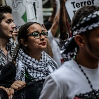 Protest against Israel for Gaza in New York