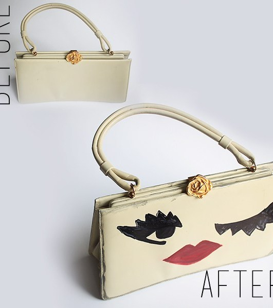DIY: The Painted Thrift Store Purses!
