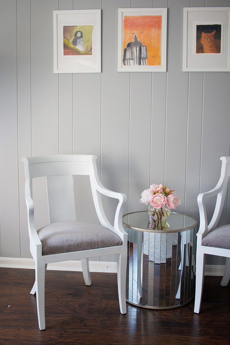 thrift store chair diy makeover painted