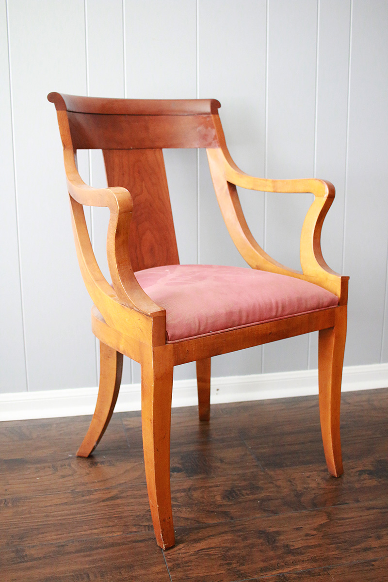 thrift store chair diy makeover