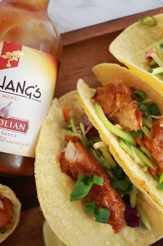 Easy Slow Cooker Mongolian Chicken Tacos