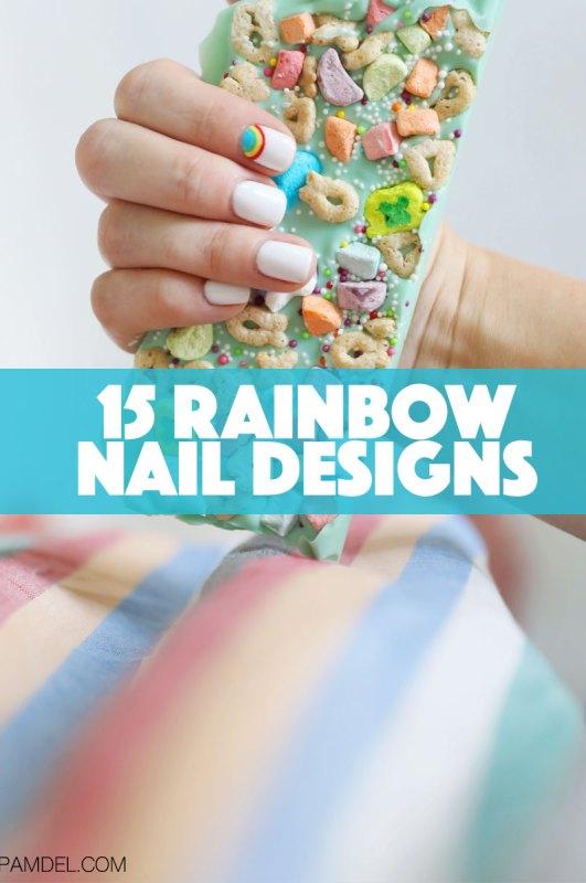 15 Rainbow Nail Designs
