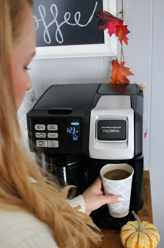 Fall Coffee Bar with Hamilton Beach FlexBrew