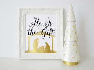He is the Gift Christmas print