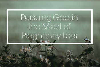 {Guest Post} Pursuing God in the Midst of Pregnancy Loss