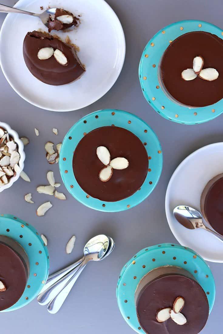 Mini Chocolate Cream Cakes, mini chocolate mousse cakes, chocolate mousse cake, mini vegan chocolate cakes, mini vegan cheesecakes, vegan, gluten-free, vegan cheesecake, vegan mousse cake, passover desserts, passover dessert recipe, passover cake, passover cream cake, pesach cake, pesach recipes, passover, pesach, chocolate cream, gluten free dessert, elegant mousse cake, chocolate