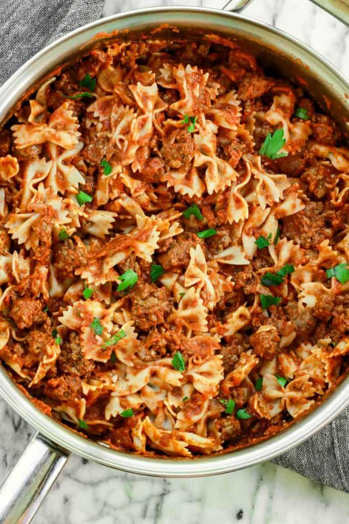 pasta, gluten free pasta, meat sauce, ground lamb meat sauce, gluten free pasta with meat sauce, lamb, gluten free lamb recipes, gluten free recipes