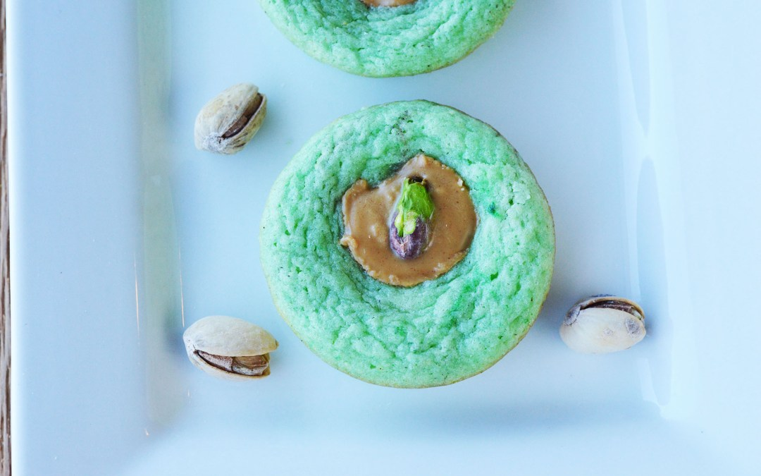Peanut Butter and Pistachio Sugar Cookies