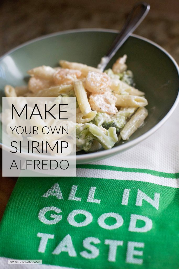 Make your own Shrimp Alfredo