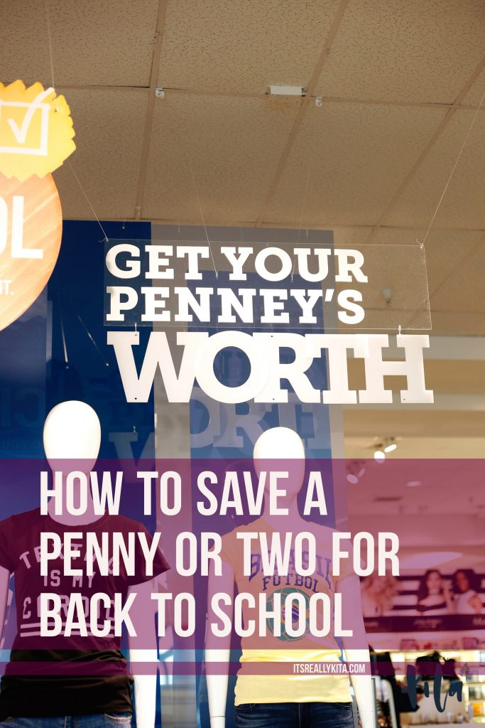 How to save a penny or two for back to school