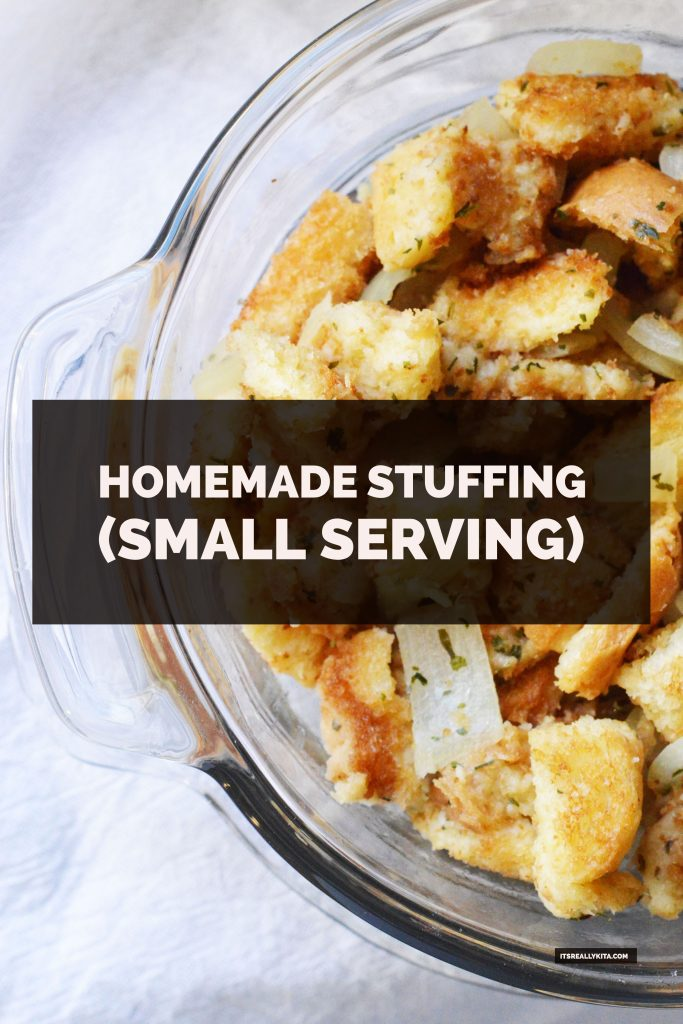 Homemade Stuffing (small serving)