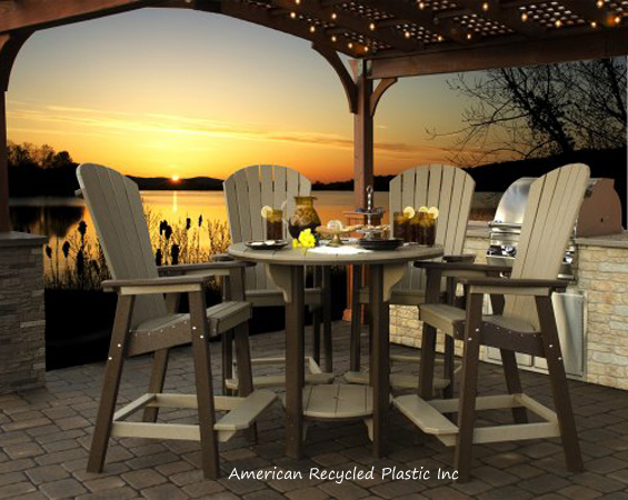 dining set great bay bar height table 48 round 4 great bay chairs