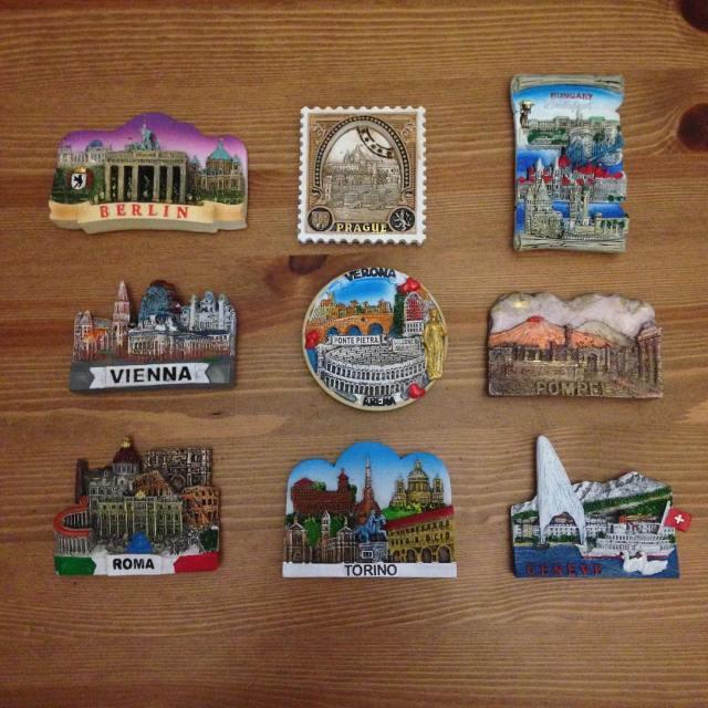 Negen magneetjes toegevoegd aan de verzameling berlin prague budapest viennahellip