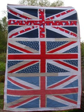 Union Jack Quilt Front