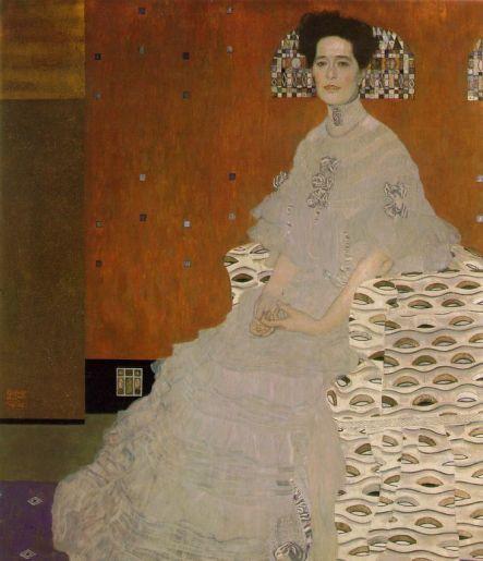 Portrait of Fritza Riedler, 1906, Oil on canvas, 153 x 133 cm, Austrian Gallery, Vienna
