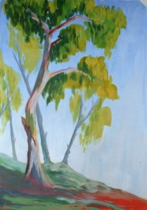Fauve inspired trees