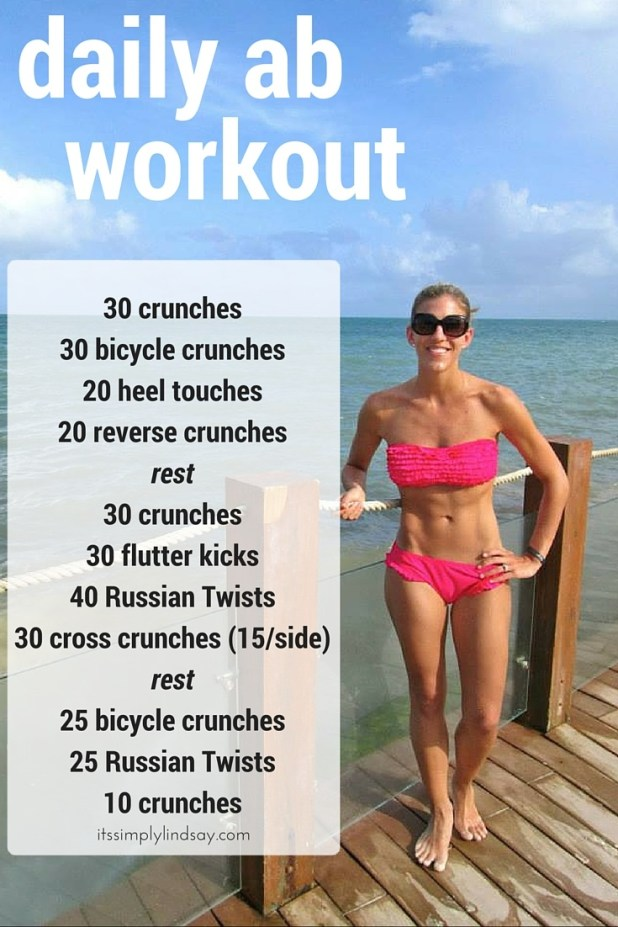 Daily Abs Workout Challenge It S Simply Lindsay
