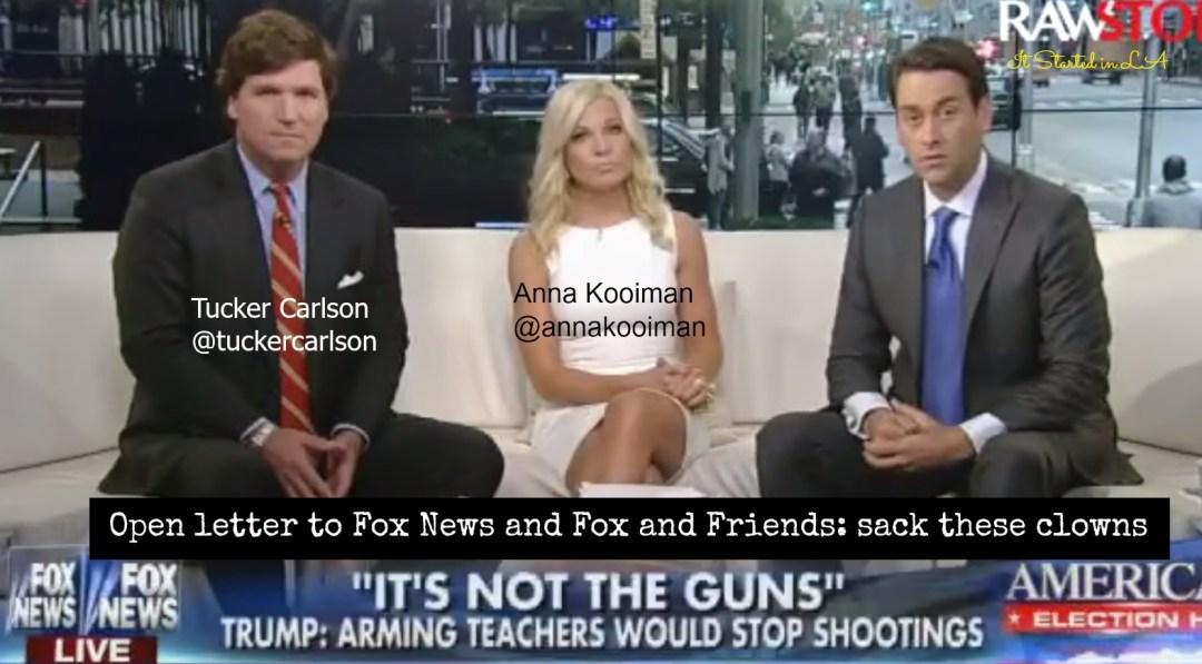 Fox & Friends presenters opinion on gun control