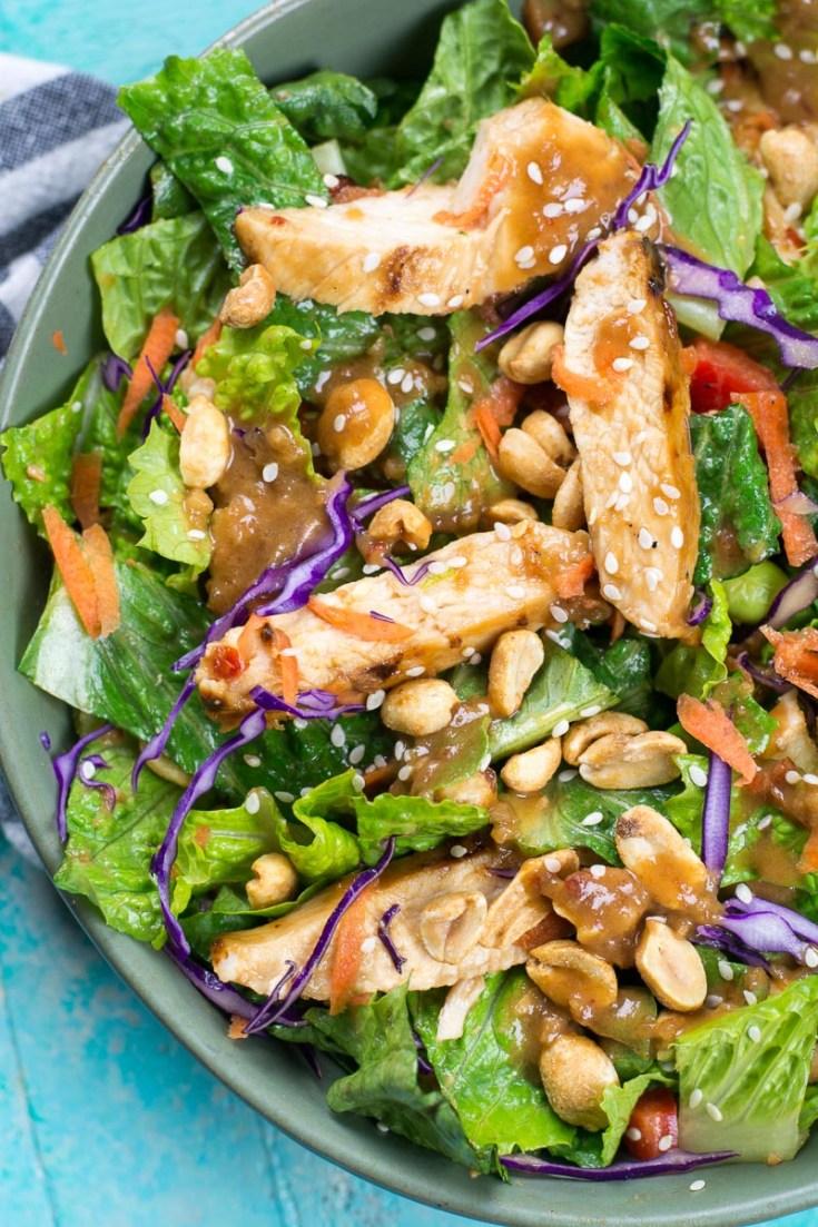 Spicy Thai Salad with Chicken (Panera Copycat)