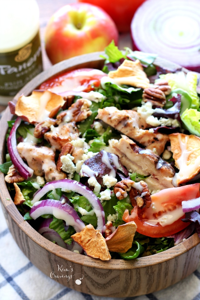 Fuji Apple Chicken Salad- my favorite sandwich shop meal recreated and even tastier than the original!!