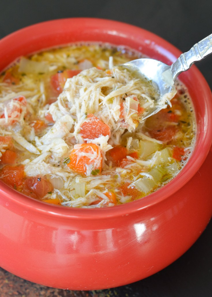 This Easy Keto Chicken Soup is packed with shredded chicken, and tons of vegetables swimming in a flavorful broth! At about 8 net carbs this is the ultimate low carb comfort food!