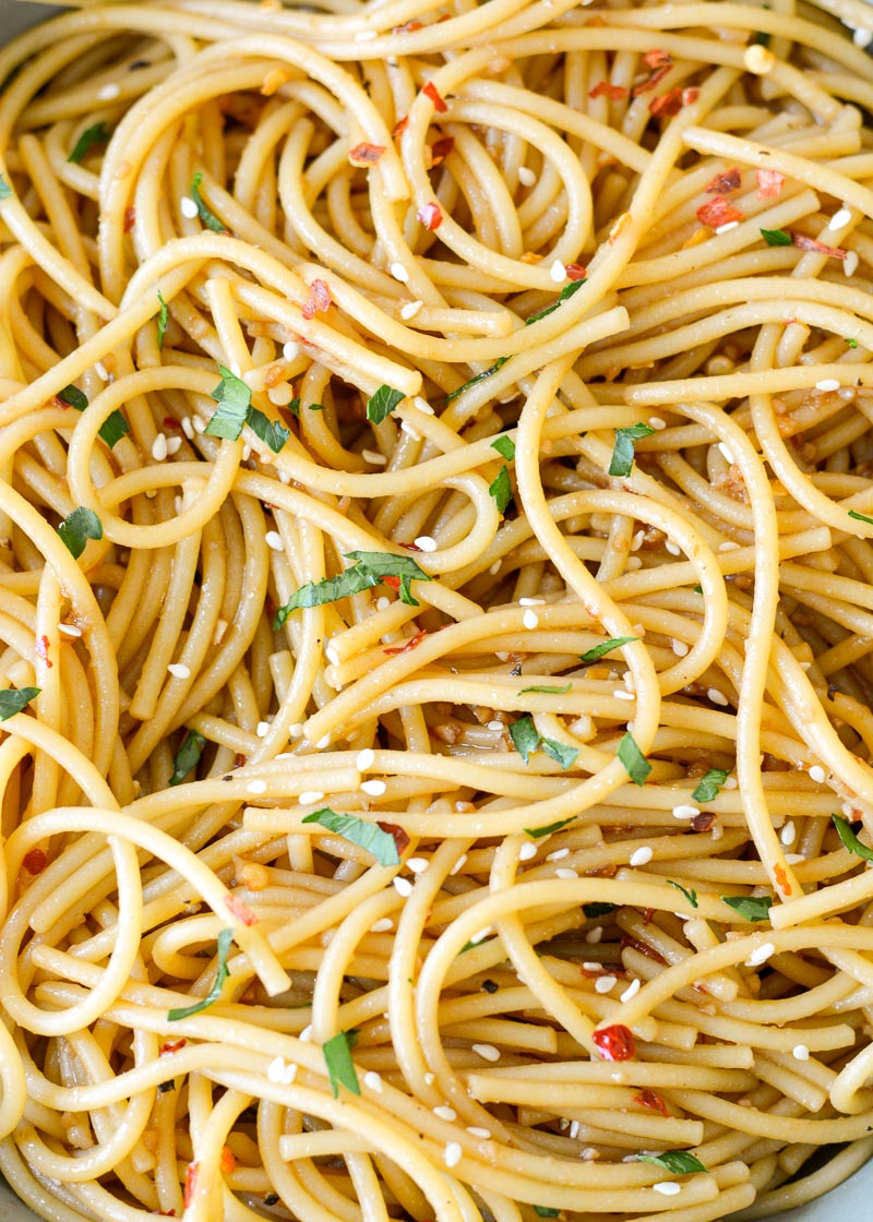 These Simple Sesame Noodles are ready in 15 minutes making them the perfect side dish or vegetarian meal! Loaded with a savory sesame sauce, these Asian noodles will be a new family favorite!