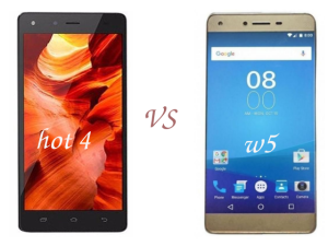 difference and similarities between hot 4 and tecno w5