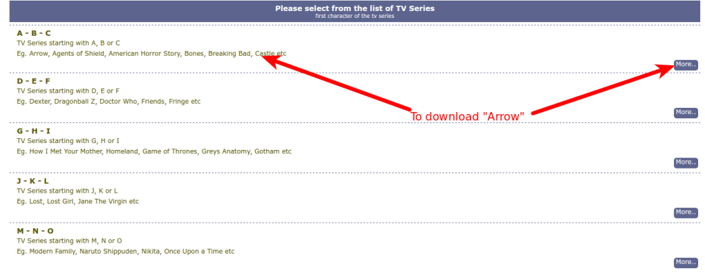 downloading series from tvshows4mobile.com