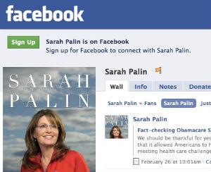 Sarah Palin Facebook page